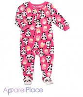 """Carter's Человечек флисовый, розовый """"Панда"""""""