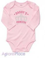 """Carter's Бодик, розовый """"Принцеса"""""""