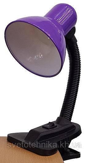 Светильник настольный (лампа) с прищепкой LEMANSO LMN076 фиолетовыйЕ27