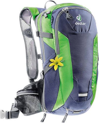 Женский вело-рюкзак для поездок на велобайке DEUTER COMPACT AIR EXP 8 SL, 32172 5202 синий с зеленым