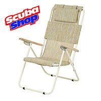 Кресло-шезлонг «Ясень» для рыбалки и туризма (текстилен оранжевый)