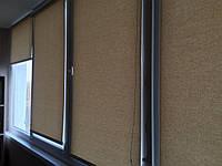 Оформление балкона. Тканевые ролеты открытого типа Ара.