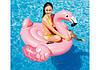 Надувной плотик розовый фламинго Intex