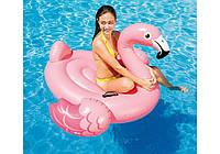 Надувной плотик розовый фламинго Intex, фото 1