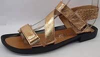 Женские кожаные босоножки на липучке от производителя модель КА35-24