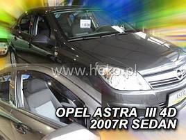 Дефлектори вікон (вітровики) OPEL ASTRA 5d 2004r htb →(HEKO)