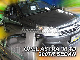 Дефлекторы окон (ветровики)  OPEL ASTRA H 5d 2004r sedan →(HEKO)