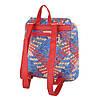 Женский рюкзак плетеный разноцветный(Европа) Красный/Синий, фото 3