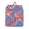 Женский рюкзак плетеный разноцветный(Европа) Красный/Синий, фото 2