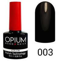 Гель лак Opium № 003 черный 8 мл