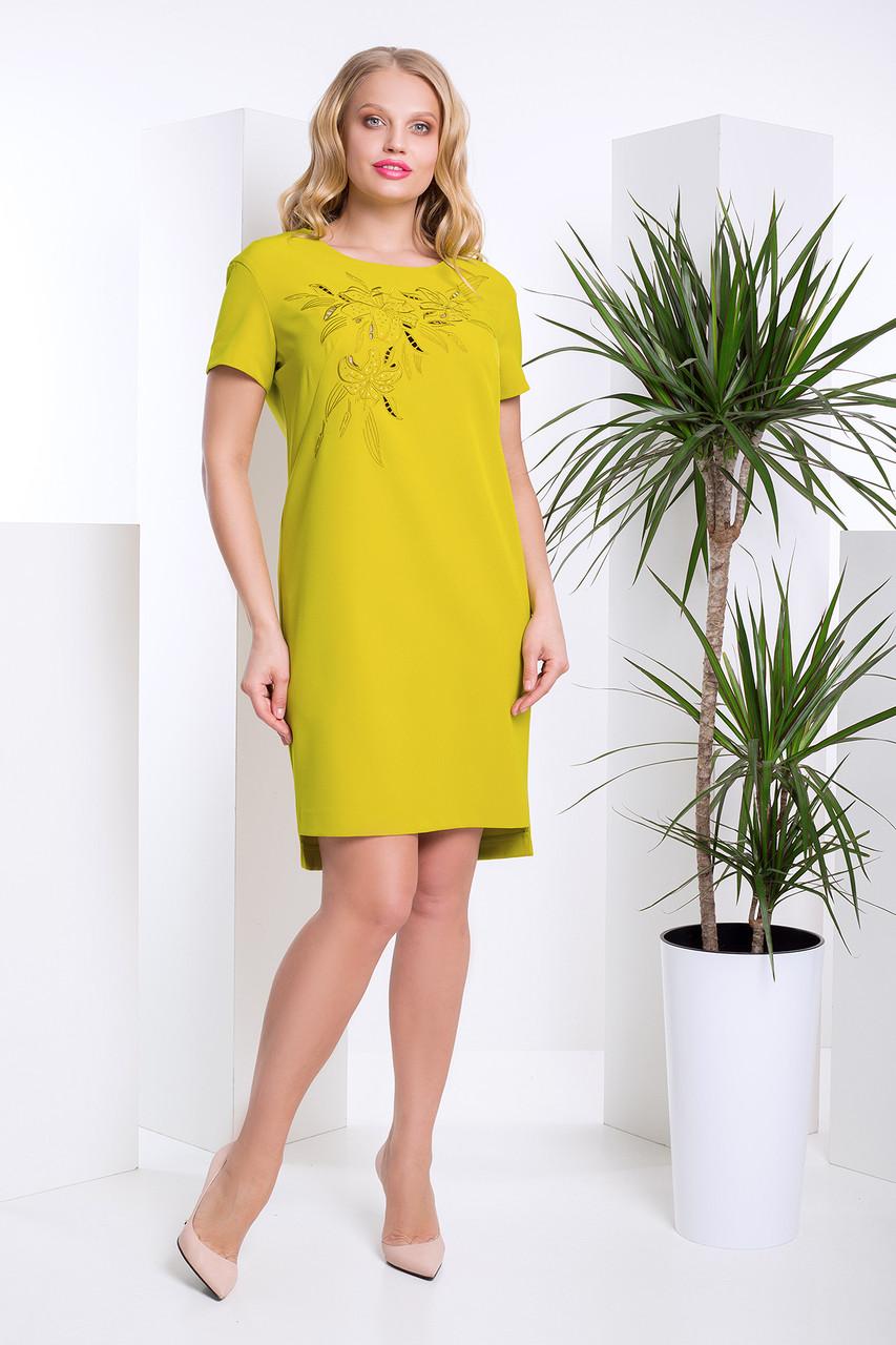 Ошатне плаття з перфорацією з 50 по 58 розмір 2цвета