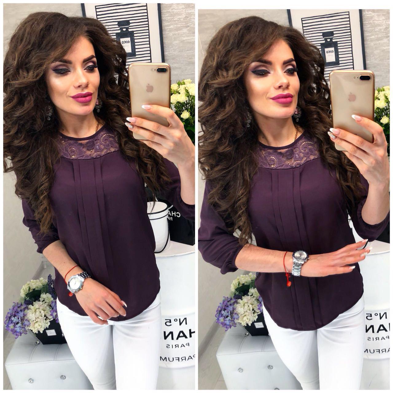 Блузка женская, модель 793 цвет Сливовый