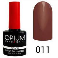 Гель лак Opium № 011 молочний мокко 8 мл