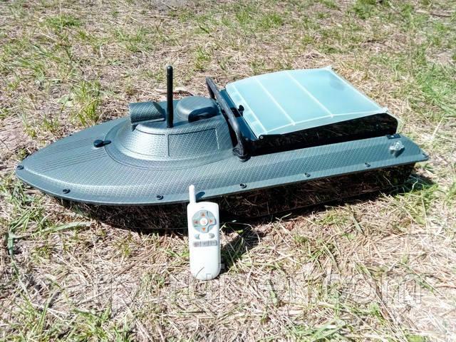 """Кораблик для прикормки JABO-2AL-20А-CARBON с """"Турбо режимом"""" - функцией ускорения, с АКБ 20А/Ч"""