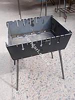 Мангал складной для отдыха 3 мм ,Украина   6 шампуров
