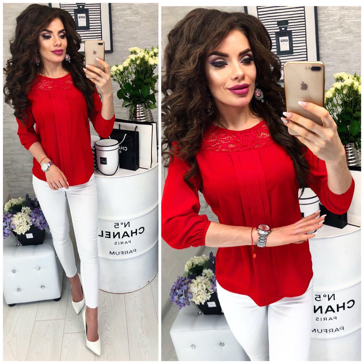 Блузка / блуза жіноча, модель 793 колір червоний / червоний