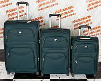 Комплект зеленых чемоданов Wings