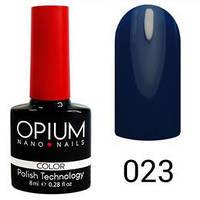 Гель лак Opium № 023 темно синій 8 мл