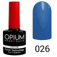 Гель лак Opium № 026 голубой  8 мл