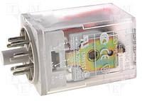 Реле R15 10 А 24V ( пост.) 3CO мех. инд , тест-кнопка с блокировкой ,светодиод-индикатор, гасящий диод