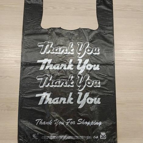 Пакет полиэтиленовый майка 30х50 Thank you (300х500 мм)