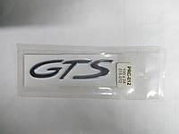 Надпись GTS металлическая хром  100х24 мм