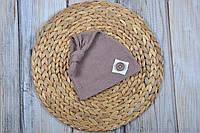 """Летняя шапка """"Knot"""", капучино, фото 1"""