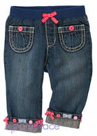 Gymboree Джинсы с карманчиками и  манжетами