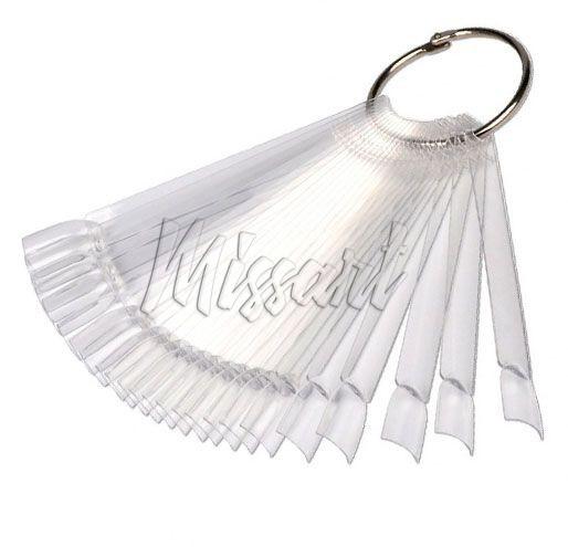 Типсы веер на кольце 50 шт прозрачные