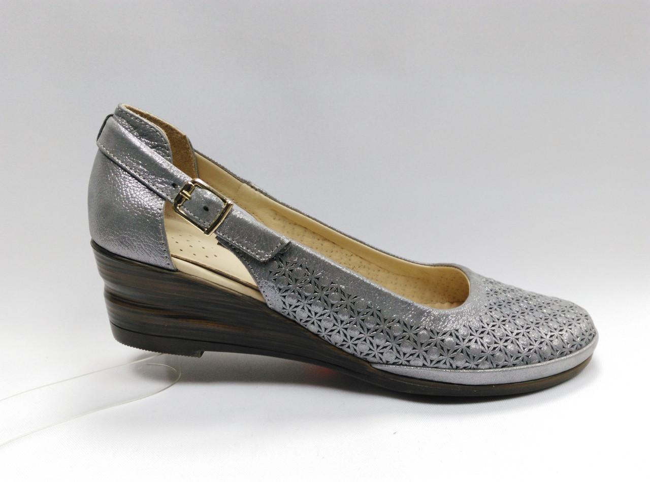 Летние кожаные туфли с перфорацией. Турция. Большие размеры ( 41 - 43 ). f2e724442fc