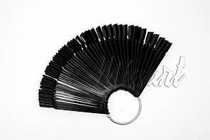 Типсы веер на кольце 50 шт черные