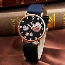 Часы с черным ремешком женские