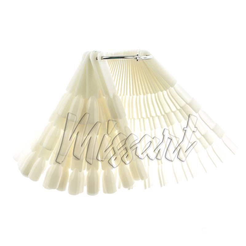 Типсы веер на кольце тройные 150 шт белые