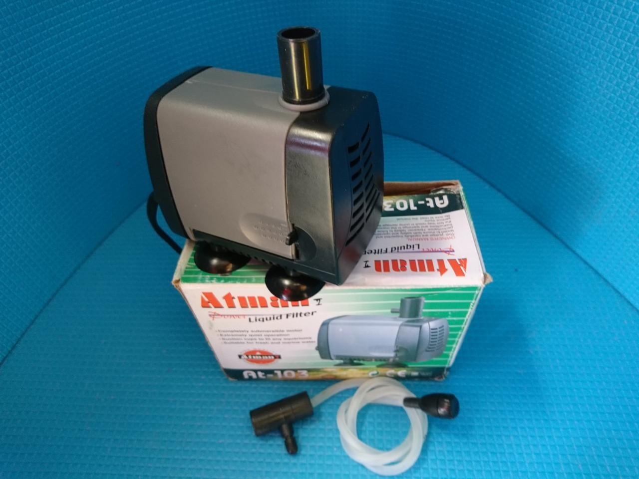 """Фонтанный насос """"Atman"""" АТ-103,  1300л/ч, Нмаx=1.2м, 25W с регулировкой мощности"""