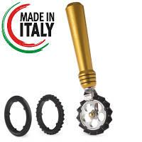 Фигурный нож для лапши Marcato Pastawheel Gold