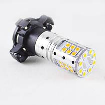 Светодиодная лампа SLP LED с цоколем PY24W  9-30V 32-3030 Желтый в поворот с обманкой, фото 3