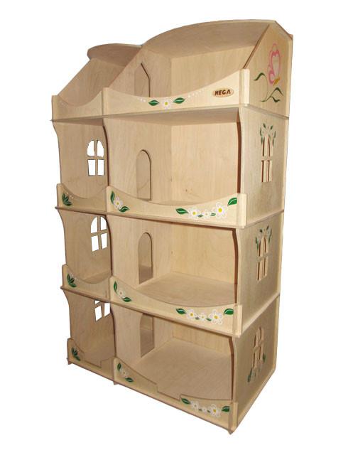 Кукольный домик-шкаф Hega  с росписью (090)