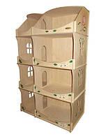 Кукольный домик-шкаф Hega  с росписью (090), фото 1