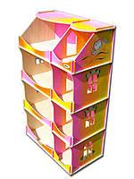 Кукольный домик-шкаф Hega радужный с росписью (090P), фото 1