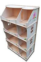 Кукольный домик-шкаф Hega с росписью белый (090A), фото 1