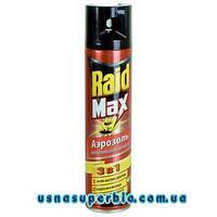 РЕЙД (Raid) от тараканов и муравьёв Raid МАКС 3в1 аэрозоль красный (1 фл.х 300 мл)