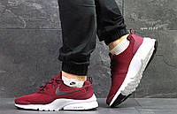 Мужские кроссовки Nike Air Presto Fly найк престо бордо - Сетка плотная дышащая,подошва пена р:41-45Вьетнам , фото 1