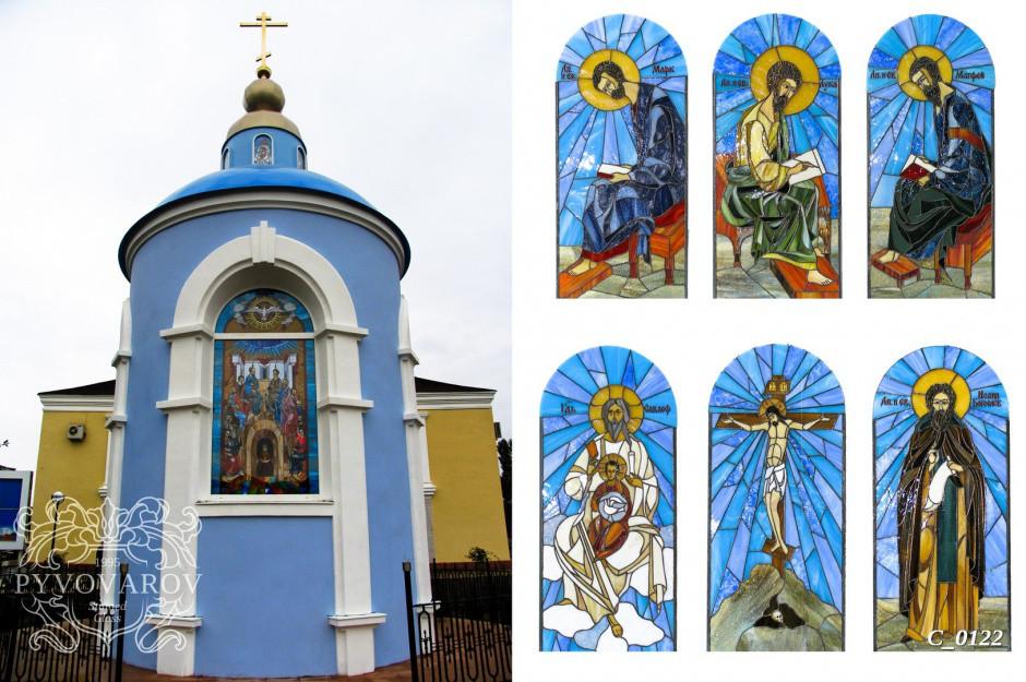 Арочные церковные витражи