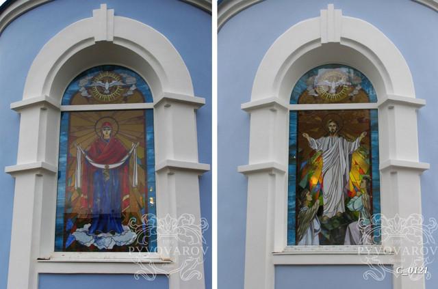 Церковные витражи в арочные окна
