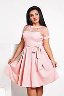 Женское платье клеш из костюмной ткани, фото 1