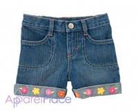 Gymboree Шорты джинсовые с цветочками