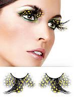 Черно-желтые пунктирные ресницы, фото 1