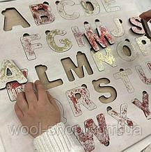 """Пазл-планшет з дерева """"Англійська мова"""", дитяча абетка 25/25 див."""