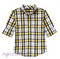 Gymboree Рубашка в желтую клетку