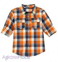 Gymboree Рубашка в оранжевую клетку